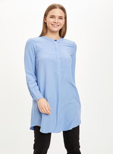 DeFacto Uzun Kollu Tunik Mavi